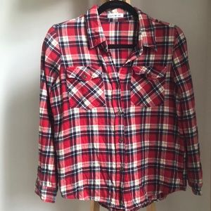 Plaid Flannel Button-Up
